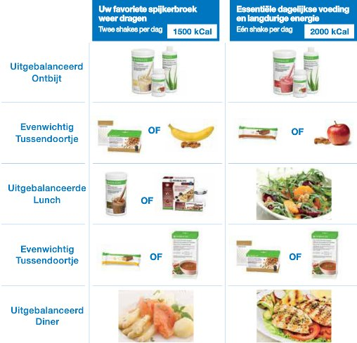 afvallen calorieën per dag